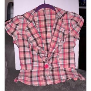 Girl's Plaid Top